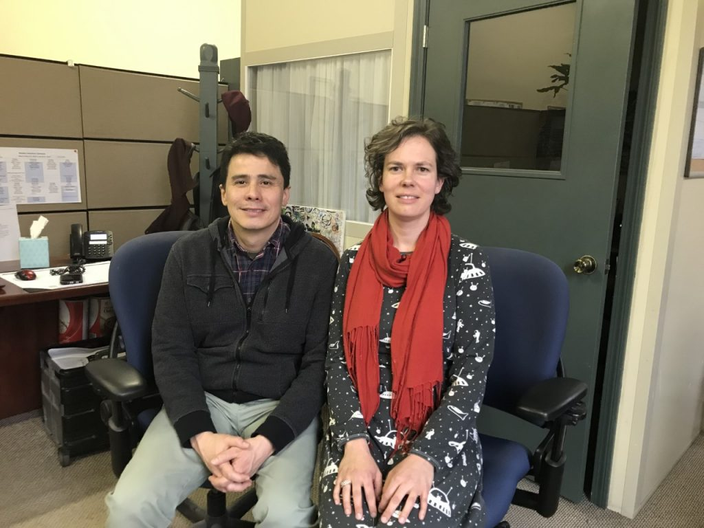 Abigail Meletti, Social Services Manager and Ricardo Zapata, Community Engagement Manager